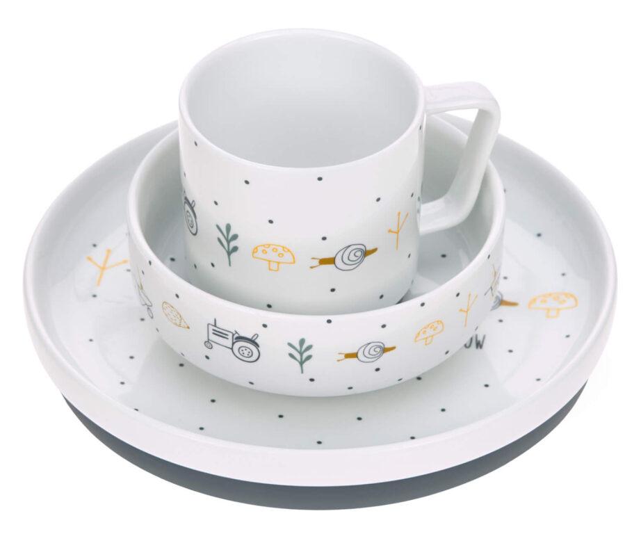 Dish Set Porcelain Garden Explorer boys