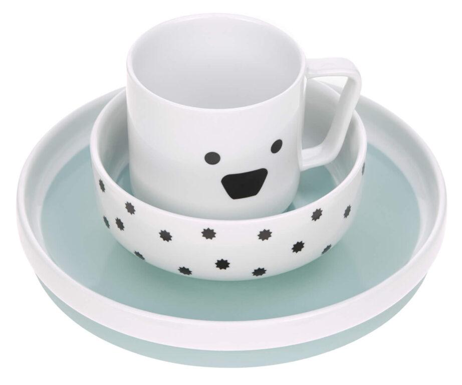 Dish Set Porcelain Little Chums dog