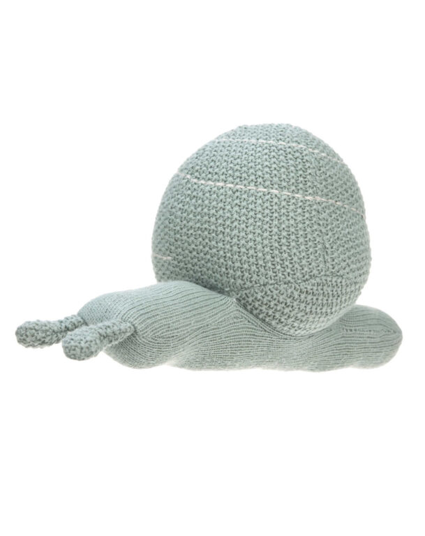 Knitted Toy with Rattle 2020 Garden Explorer snail green