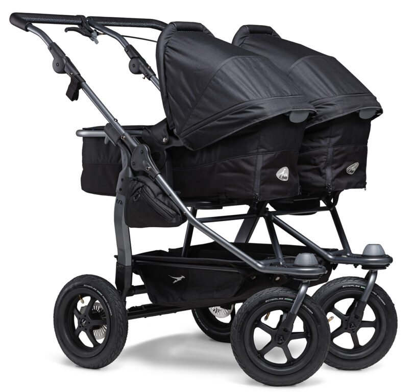 Duo combi pushchair - air wheel black
