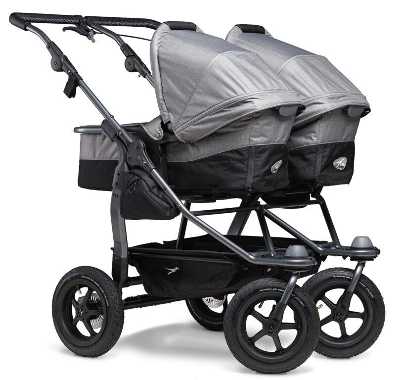 Duo combi pushchair - air wheel grey