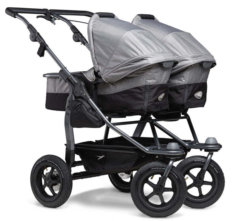 Duo combi pushchair - air wheel grey