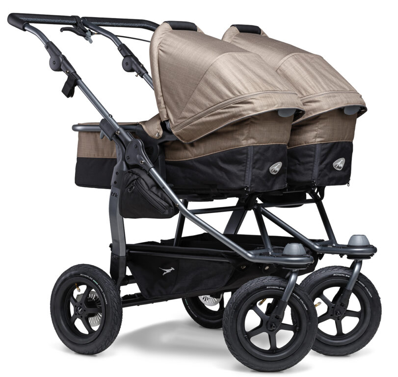 Duo combi pushchair - air wheel brown