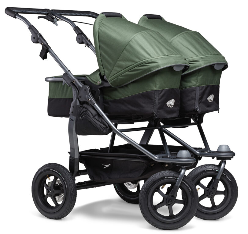 Duo combi pushchair - air wheel oliv