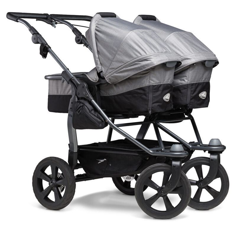 Duo combi pushchair - air chamber wheel grey