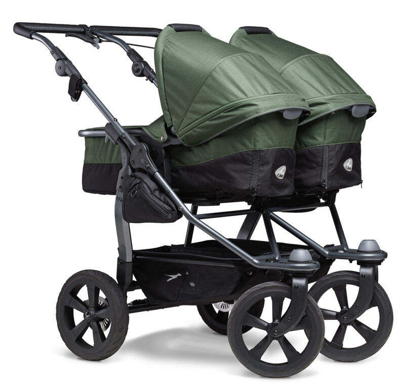 Duo combi pushchair - air chamber wheel oliv
