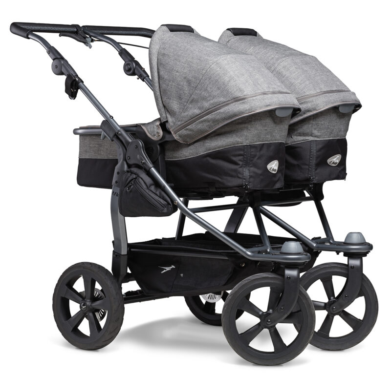 Duo combi pushchair - air chamber wheel prem. grey
