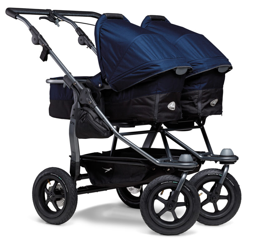 Duo combi pushchair - air wheel navy
