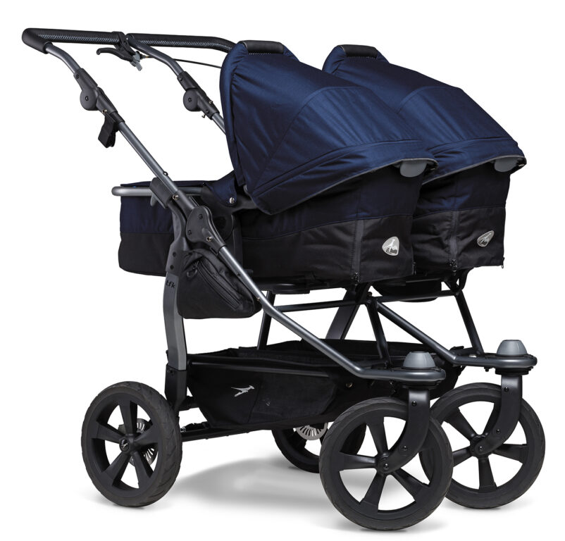 Duo combi pushchair - air chamber wheel navy