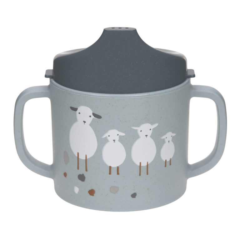 Sippy Cup PP/Cellulose Tiny Farmer Sheep/Goose blue