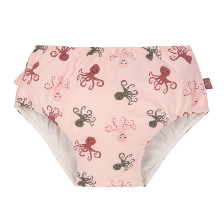 Swim Diaper Girls octopus rose 12 mo.