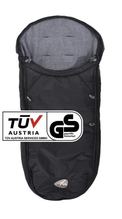 TFK, footmuff universal black for Dot buggy T-068-310