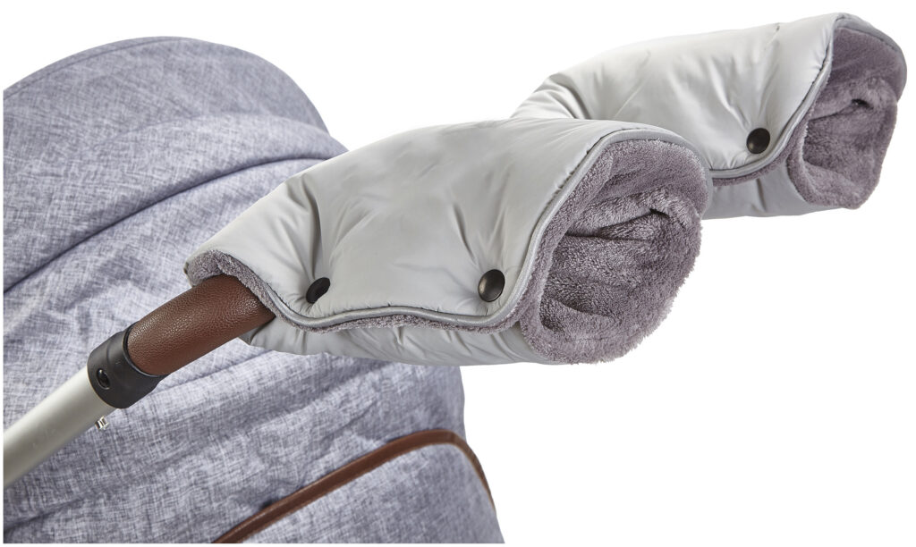 rukavice na kočár Mazlík 2020 sv.šedá/šedá