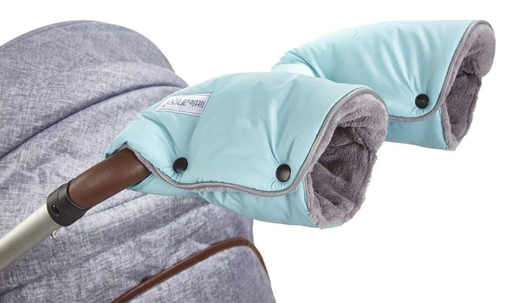rukavice na kočár Mazlík 2020 mentolová/šedá