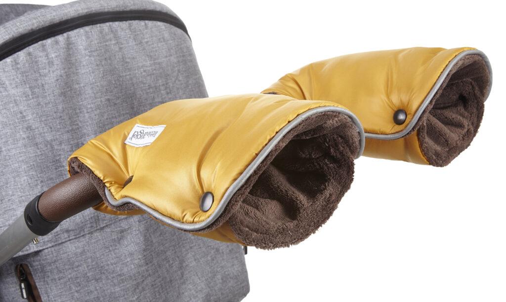 rukavice na kočár Mazlík 2020 zlatá/hnědá