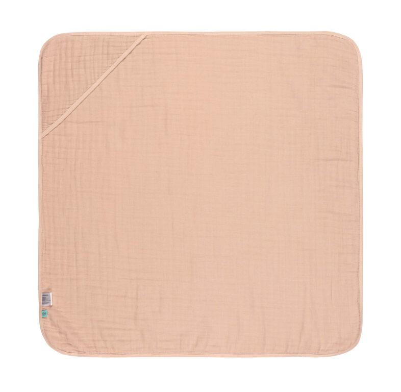 Muslin Hooded Towel light pink