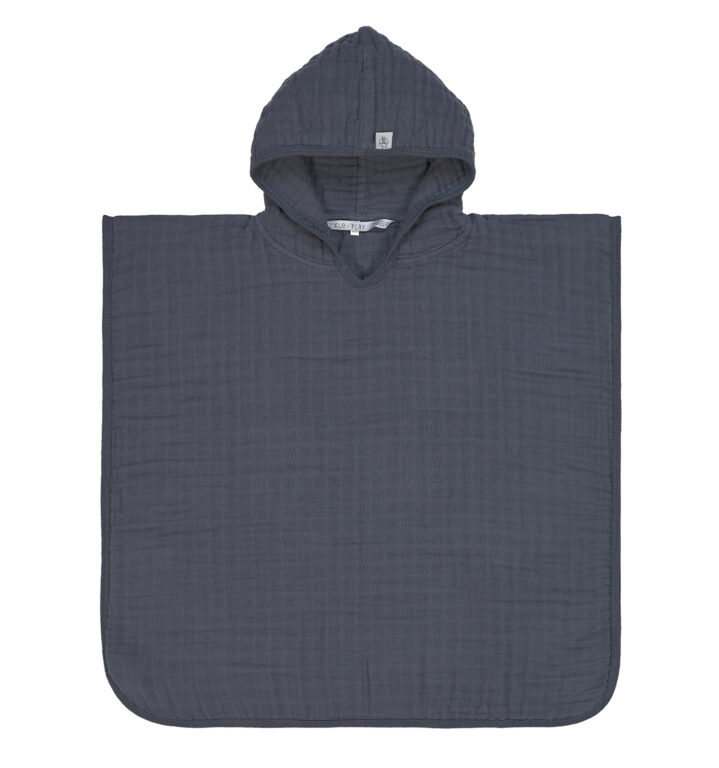 Muslin Poncho anthracite