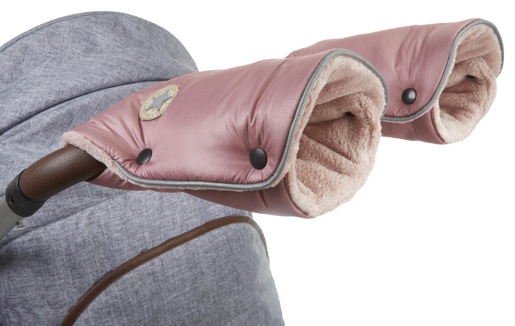 rukavice na kočár Mazlík 2021 tm.pudrová/pudrová