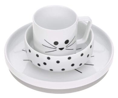 Dish Set Porcelain Little Chums cat(7205P.04)