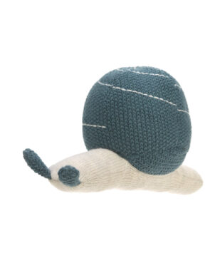 Knitted Toy with Rattle Garden Explorer snail blue  (73212.01)