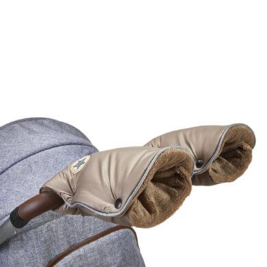 rukavice na kočár Mazlík 2021 oříšková/sv.hnědá(6372M.16)