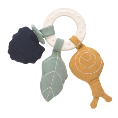 Teether Ring Natural Rubber snail(7316N.02)