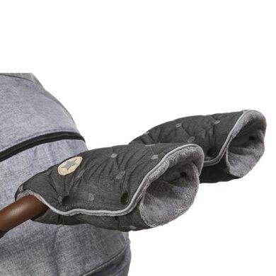 rukavice na kočár prošev Mazlík šedý melír/šedá(6372N.01)