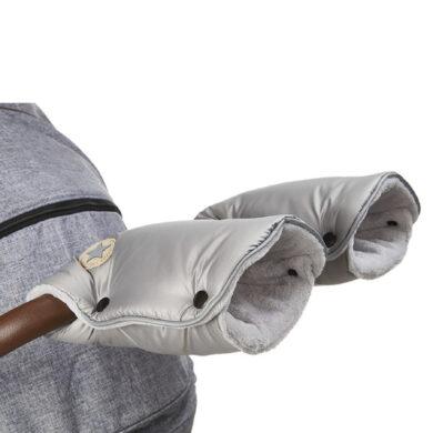 rukavice na kočár Mazlík stříbrná/sv.šedá(6372M.20)