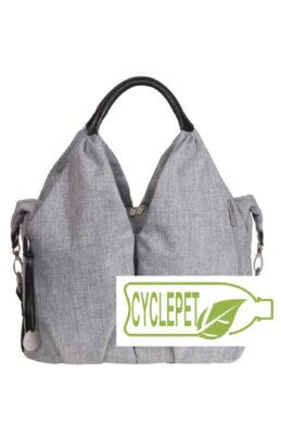 Green Label Neckline Bag black mélange(7101.002)