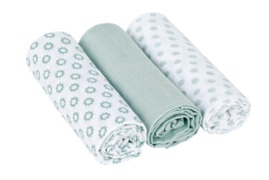 Swaddle blanket 85x85 Little Chums Star light mint(7201.008)