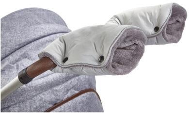 rukavice na kočár Mazlík 2020 sv.šedá/šedá(6372M.15)