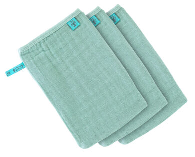Muslin Wash Glove Set 3 pcs mint(7309.002)