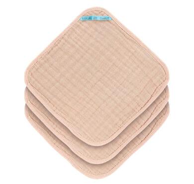 Muslin Washcloth Set 3 pcs light pink(7310.003)