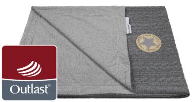 deka dvojitá Copánky tenká Outlast šedá/šedý melír(63731.01)