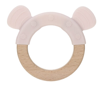 Teether Ring Wood/Silicone 2020 Little Chums mouse(7316.002)