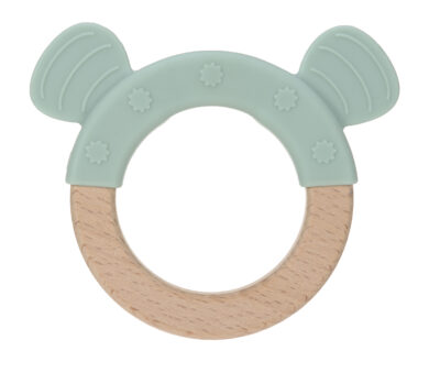 Teether Ring Wood/Silicone 2020 Little Chums dog(7316.003)
