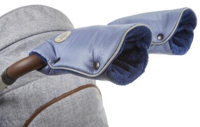 rukavice na kočár Mazlík ocelově modrá/modrá(6372M.12)