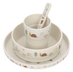 Dish Set Bamboo Garden Explorer girl-set nádobí