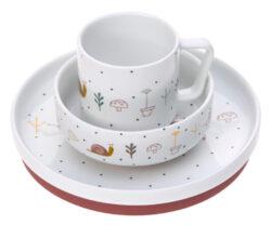 Dish Set Porcelain Garden Explorer girls-set nádobí