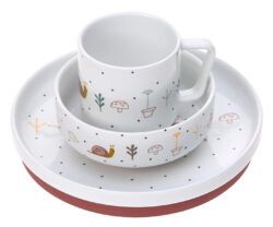 Dish Set Porcelain Garden Explorer girls - set nádobí