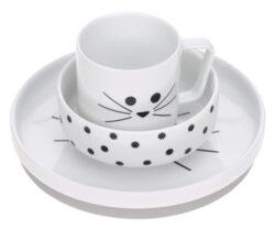 Dish Set Porcelain Little Chums cat-set nádobí