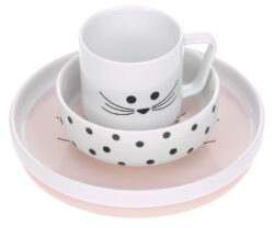 Dish Set Porcelain Little Chums mouse-set nádobí