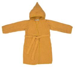 Muslin Bathrobe mustard 24-36m.-koupací plášť