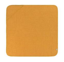 Muslin Hooded Towel mustard-ručník s kapucí