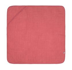 Muslin Hooded Towel rosewood-ručník s kapucí