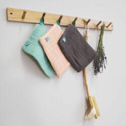 Muslin Wash Glove Set 3 pcs rosewood(7309.006)