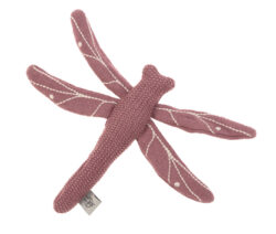 Knitted Toy with Rattle/Crackle Garden Explorer Dragonfly red-hračka