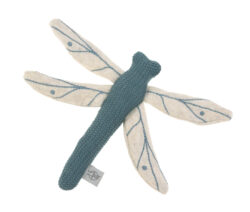 Knitted Toy with Rattle/Crackle Garden Explorer Dragonfly blue-hračka