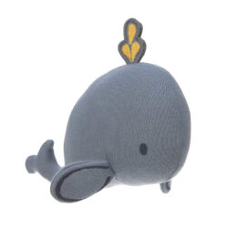Knitted Toy with Rattle/Crackle Little Water whale(73211.04)