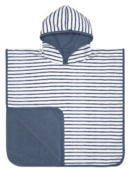 Beach Poncho Boys stripes navy - pončo